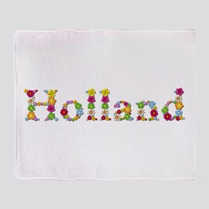 Holland Bright Flowers Throw Blanket