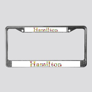 Hamilton Bright Flowers License Plate Frame