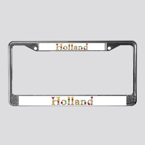 Holland Bright Flowers License Plate Frame