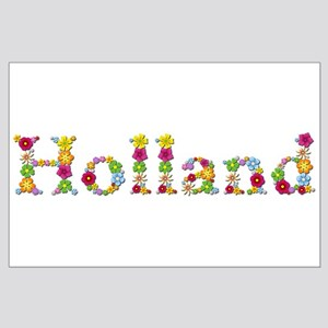 Holland Bright Flowers Large Poster