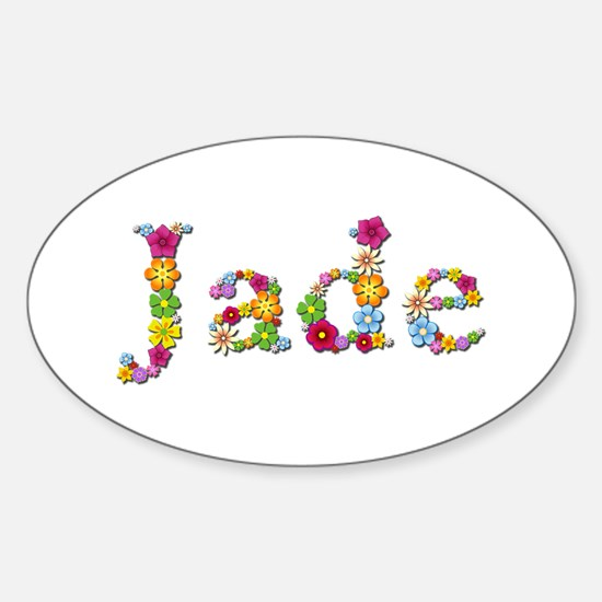 Jade Bright Flowers Oval Decal