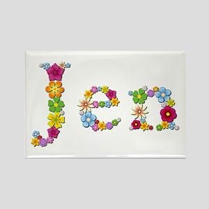 Jen Bright Flowers Rectangle Magnet