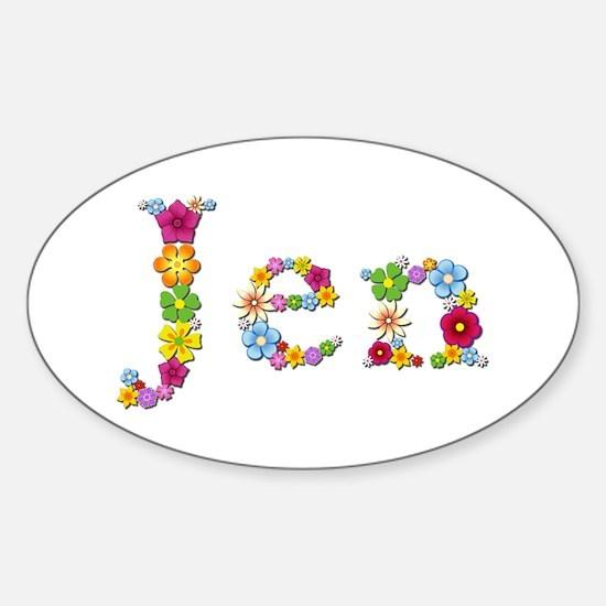 Jen Bright Flowers Oval Decal