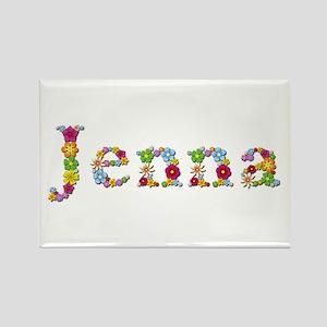 Jenna Bright Flowers Rectangle Magnet