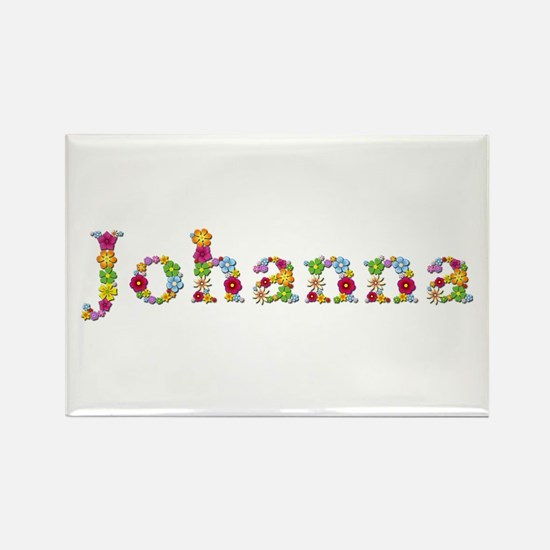 Johanna Bright Flowers Rectangle Magnet
