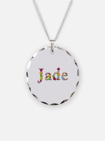 Jade Bright Flowers Necklace