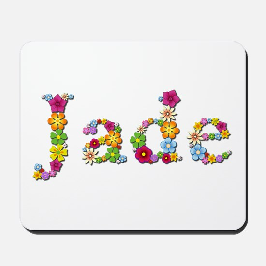 Jade Bright Flowers Mousepad