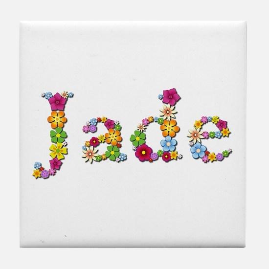 Jade Bright Flowers Tile Coaster