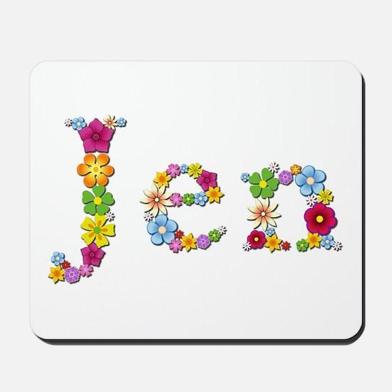 Jen Bright Flowers Mousepad