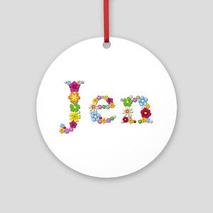Jen Bright Flowers Round Ornament