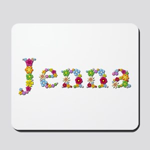 Jenna Bright Flowers Mousepad