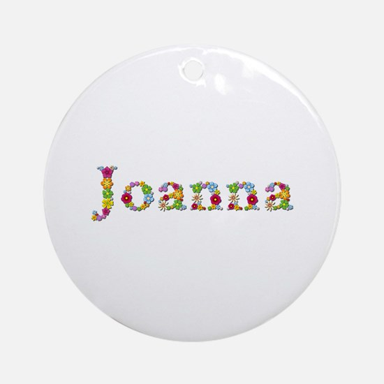 Joanna Bright Flowers Round Ornament