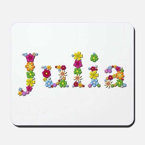 Julia Bright Flowers Mousepad