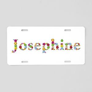 Josephine Bright Flowers Aluminum License Plate