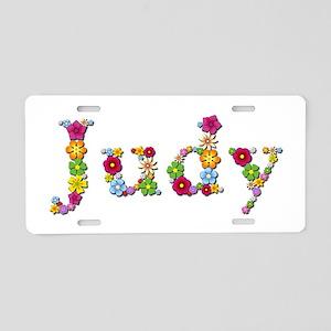 Judy Bright Flowers Aluminum License Plate