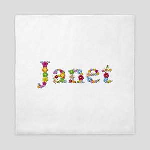 Janet Bright Flowers Queen Duvet