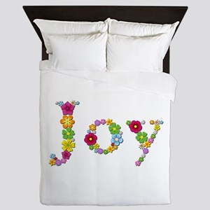 Joy Bright Flowers Queen Duvet