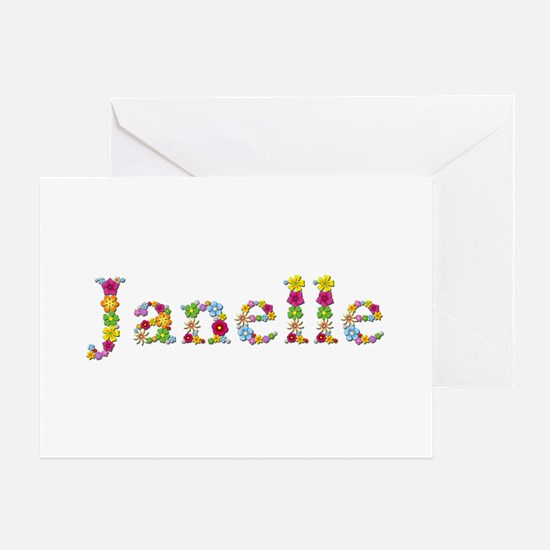 Janelle Bright Flowers Greeting Card