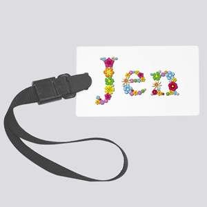 Jen Bright Flowers Large Luggage Tag