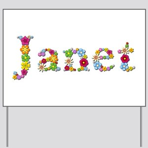 Janet Bright Flowers Yard Sign
