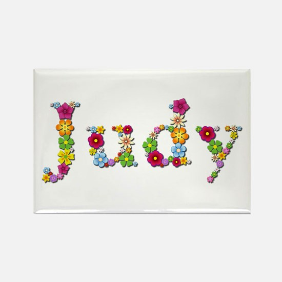 Judy Bright Flowers Rectangle Magnet 100 Pack
