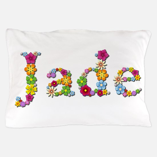 Jade Bright Flowers Pillow Case