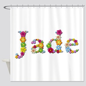Jade Bright Flowers Shower Curtain