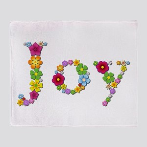 Joy Bright Flowers Throw Blanket
