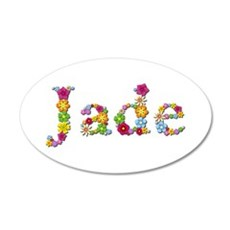 Jade Bright Flowers Wall Decal