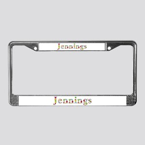 Jennings Bright Flowers License Plate Frame