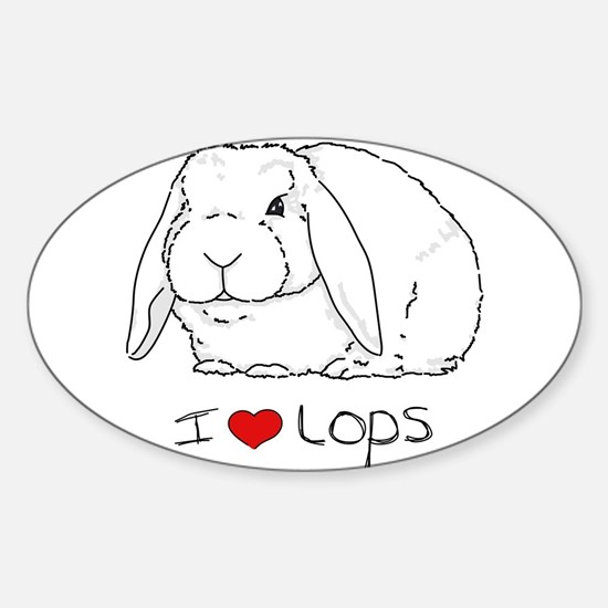 I Love Lops 2 Rectangle Decal