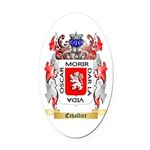 Echallier Oval Car Magnet