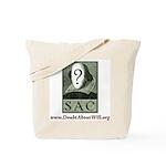 SAC Logo Tote bag (green logo & crimson type)