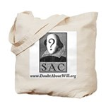 SAC Logo Tote bag (gray logo & type)
