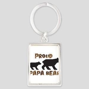 Proud Papa Bear Keychains