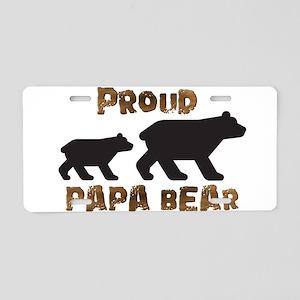 Proud Papa Bear Aluminum License Plate