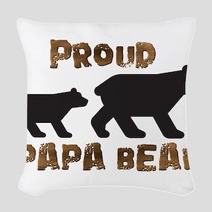 Proud Papa Bear Woven Throw Pillow