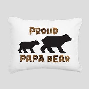 Proud Papa Bear Rectangular Canvas Pillow