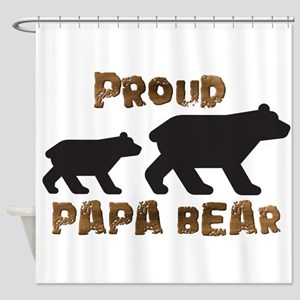 Proud Papa Bear Shower Curtain