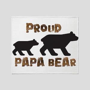 Proud Papa Bear Throw Blanket