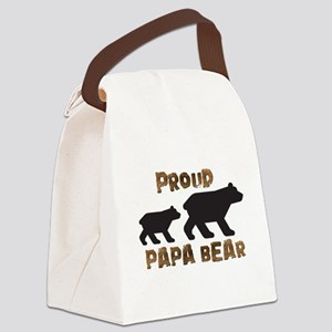 Proud Papa Bear Canvas Lunch Bag