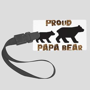 Proud Papa Bear Luggage Tag
