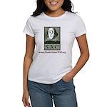 SAC Logo Women's T-Shirt (green logo & crimson typ