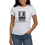 SAC Logo Women's T-Shirt (gray logo & type)