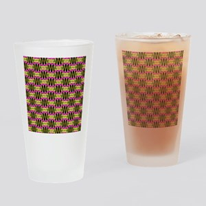 Funky Tribal Bubblegum  Drinking Glass