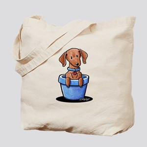 KiniArt Potted Doxie Tote Bag