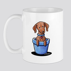 KiniArt Potted Doxie Mug
