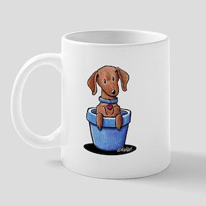 KiniArt Potted Doxie Mug