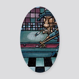 Eightball Snoop Oval Car Magnet