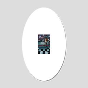 Eightball Snoop 20x12 Oval Wall Decal